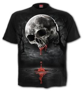 Spiral-Direct-DEATH-MOON-T-Shirt-Gothic-Metal-Skull-Vampire-Top