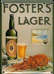 Fosters Lobster Metal Postcard / Mini-sign (hi) Xndbmqsc-08001956-755447411