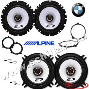 Kit-4-casse-Alpine-BMW-serie-3-e46-1998-2006-con-adattatori-e-supporti