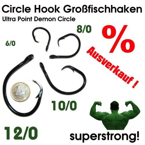 █■█ █ ▀█▀ Ultra Point Deamon Circle Hook Haken Kreishaken Waller Wels Heilbutt