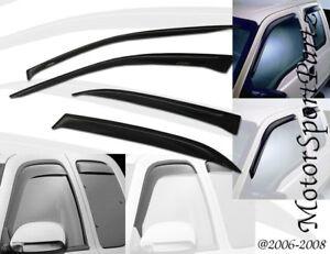 4pcs Out-Channel Visor Rain Guards Cadillac SRX 2010 2011 2012 2013 2014-2016