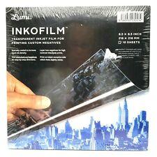 Lumi Inkofilm Transparent Inkjet Film For Printing Custom Negatives 85 X 85 In