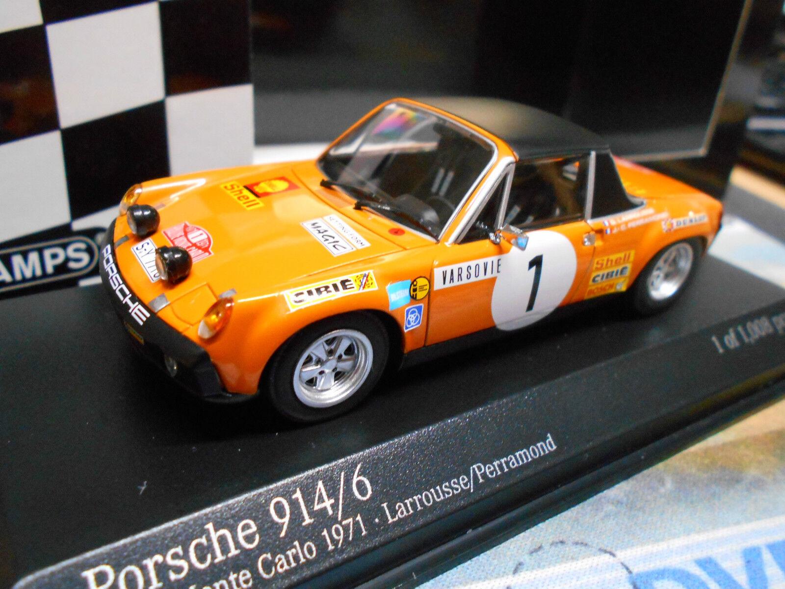 Porsche 914 6 914 6 Rallye Monte Carlo 1971  1 Larrousse perra MINICHAMPS 1 43