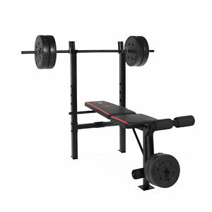 Weight-Bench-with-Bar-and-Weights-100-lb-Lift-Set-Weight-Lifting-Exercise-Press