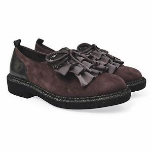 Grey Suede Fancy School Formal Shoes