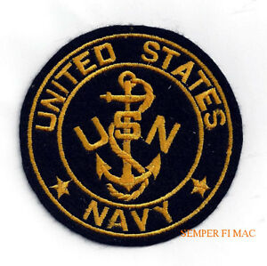 c5856ffc Details about US NAVY USN ANCHOR PATCH VETERAN GIFT USN PIN UP SAILOR CHIEF  PETTY OFFICER CPO
