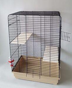 Large-Chinchilla-Degu-Cage-Rodents-Rat-Two-Wooden-Platform-250ml-Water-Bottle