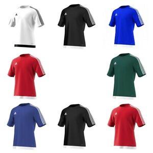 Adidas-Estro-Mens-Training-T-Shirt-Football-Climalite-Jersey-Top-Gym-tee-Sports