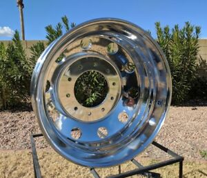 1) 19.5 X 6 FORD F450/550 ALCOA WHEEL DODGE 4500/5500 763297 POLISHED BOTH SIDES