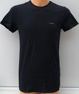 DIESEL-Black-100-Cotton-Round-Neck-T-Shirt-Sizes-S-M-L-XL-BNWOT