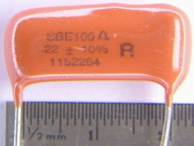 25 SBE// CDE 228P22494H101 .22uF 100 Ohm Orange Drop R-C Network Arc Suppressors