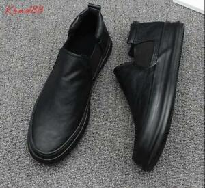new-Mens-round-toe-high-top-slip-On-Casual-loafer-Dress-shoes