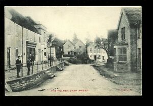 Somerset-CHEW-MAGNA-The-Village-and-local-children-early-PPC