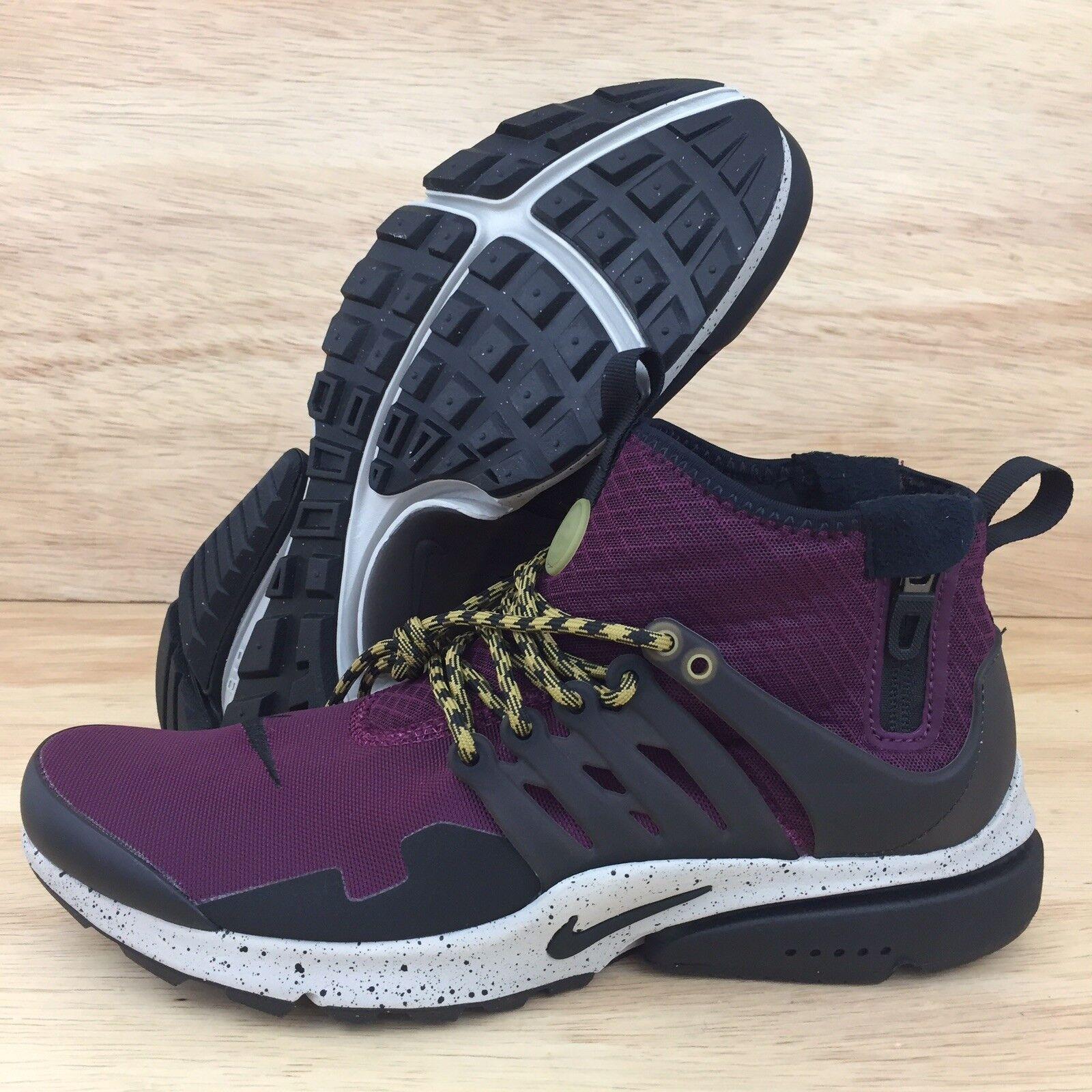Nike air presto meta di bordeaux pallido grigio nero 859524-600 Uomo sz 9 nuove