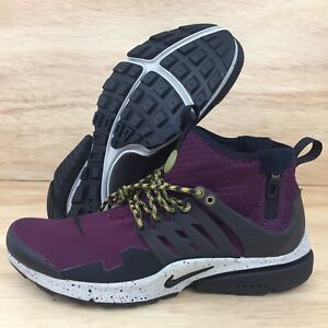 daae1ba4a365 Nike Air Presto Mid Utility Bordeaux-Black-Pale Grey 859524-600 Mens ...
