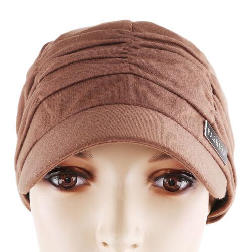 Ladies Women Warm Winter Hat Vintage Outdoors Octagonal Newsboy Visor Cap CF