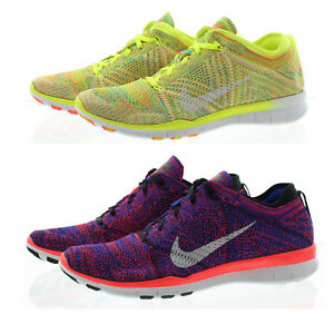 b3c53ee38bc21 Nike 718785 Womens Free TR Flyknit Mesh Low Top Running Shoes ...