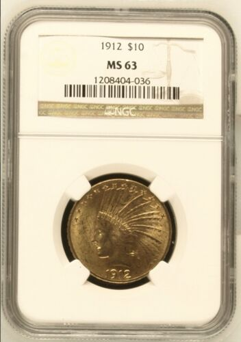 1912 $10 Indian Head Gold Eagle NGC MS63