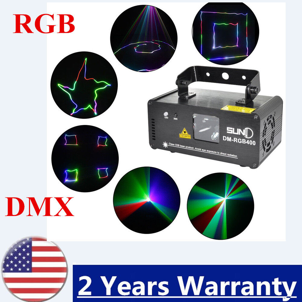 DMX 512 DM-RGB400 Stage Effect Light for Bars Clubs Laser Lighting Effect Light.