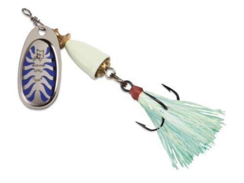 Blue Fox classique clignoteur Glow Spinner Color Glow bleu taille 6 lame 5//8 Oz
