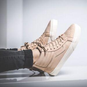 6596e7c6d7 Details about new mens 9 wmns 10.5 Vans Sk8-Hi reissue Zip veggie tan  Leather