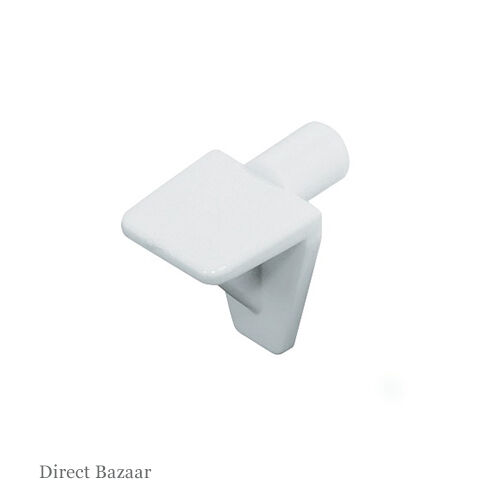 100 x Häfele Shelf Support, for Wooden and Glass Shelves and Ø 5 mm Hole , White