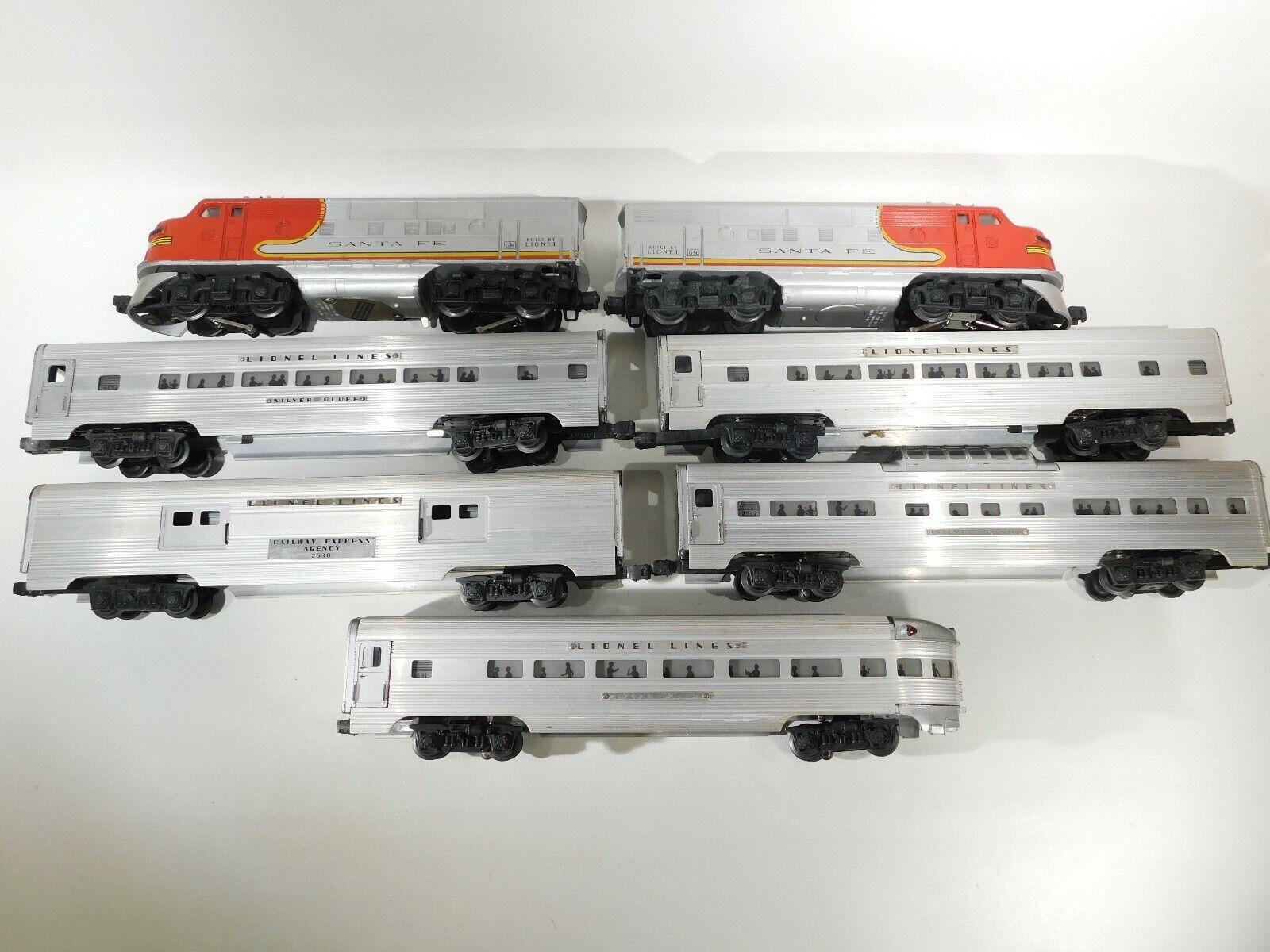 Lionel O Gauge DEL DOPO GUERRA SANTA FE AA locoLionel linee Passeggeri Set   2383 C 161