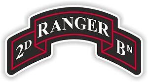 2e Ranger Insignia Autocollant Decal Régiment Armée Des États-unis Bataillon Logo Bn-afficher Le Titre D'origine