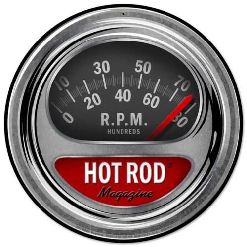 Hot Rod Magazine Drag Racing Tachometer Metal Sign Man Cave Garage Shop HRM085