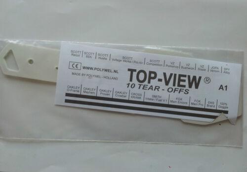 Abreißfolien MX Enduro Lunettes 100/% strata Goggle 100/% de 10 unité abreisser