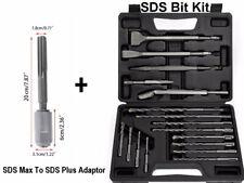 For Dewalt Sds Max Rotary Hammer Chisel Drill Bits Kit Set Adapter