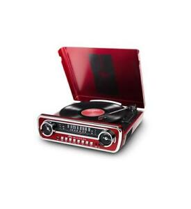 ION-Audio-iT69-Retro-4-in-1-Classic-Car-Styled-Music-Center-ION-MUSTANG-LP-RED