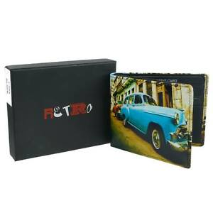 Mens-Leather-Cuban-Car-Bi-Fold-Wallet-by-Retro-Gift-Box-Cuba-Blue-Classic