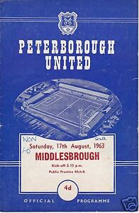 PETERBOROUGH-UTD-V-MIDDLESBROUGH-PUBLIC-PRACTISE-MATCH-17-8-63