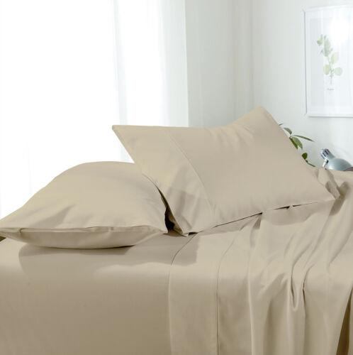 Solid Brushed Microfiber Wrinkle-Free sheet sets Luxury Bed Sheet Set