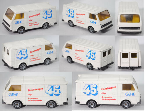 Einsatzwagen 45 GEHE Siku Super 1334 VW LT 28 Kastenwagen 2.0 Sondermodell