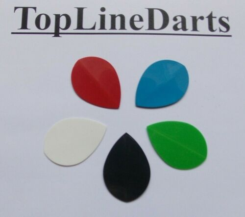 TopLine plain polymer Pear Shaped Flights 5 Sets