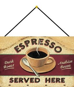 Espresso-Served-Here-Tin-Sign-Shield-with-Cord-7-7-8x11-13-16in-FA0318-K