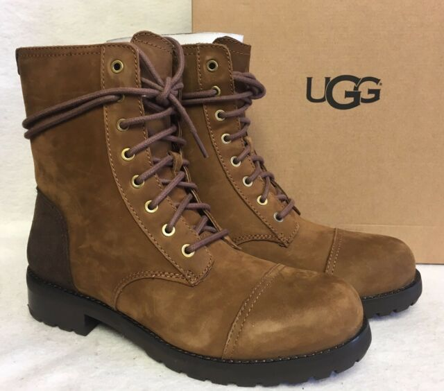 db117833ca9 Ugg Australia Kilmer Chestnut Lace Up Dressy Military 1017485 Leather Suede  size