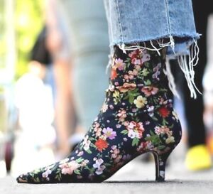 ZARA-NEW-FLORAL-SOCK-FABRIC-KITTEN-HIGH-HEEL-ANKLE-BOOTS-1113-201-ALL-SIZES