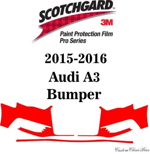 3M Scotchgard Paint Protection Film Pro Series Clear Pre-Cut 2015 2016 Audi A3