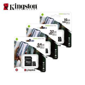 NEW-Kingston-16GB-32GB-64GB-Canvas-Select-Plus-MicroSDHC-SDXC-Card-A1-C10-UHS-I