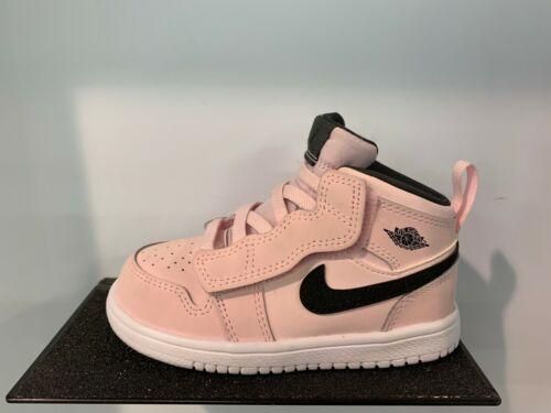 Nike Air Jordan 1 Mid Pink Black White PS TD Baby Kids Girls Size 5C-3Y NEW