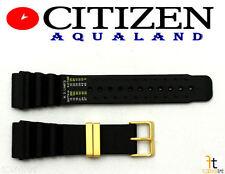 Citizen Aqualand JH0004-01E Original 24mm Black Rubber Watch Band Strap