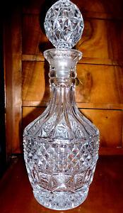 Ausgefallene Glaskaraffe 1,8 Kg Karaffe Alt Eingeschliffener Glasstöpsel Eine GroßE Auswahl An Farben Und Designs