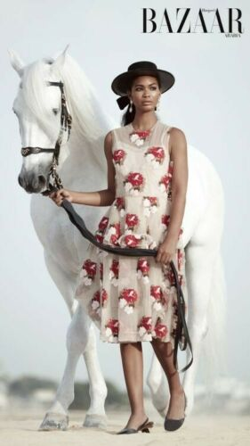 SIMONE ROCHA Tapestry Floral Ruffled embroidered t