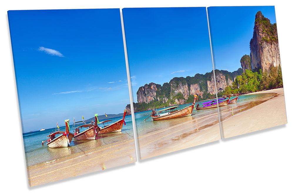 SPIAGGIA BARCHE Thailandia ART. a Muro Immagine Stampa degli acuti