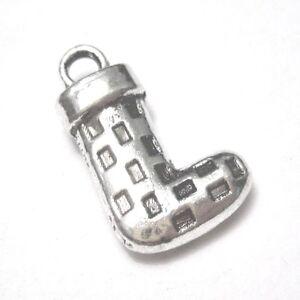 10 pieces 10x16mm Tibetan Silver Christmas Sock Alloy Charm Pendants A2332