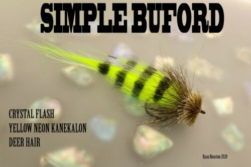 PIKE FLY SIMPLE BUFORD GREEN//BROWN 5//0 BY RYAN HOUSTON