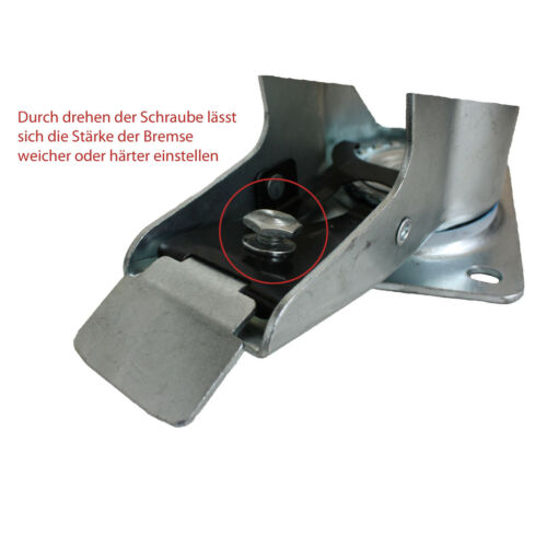 Set 80 mm Blue Wheels Elastik Rollen als Lenkrollen 6L+6LDS Transportrollen A1